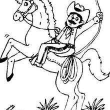 Desenho de um cowboy para colorir