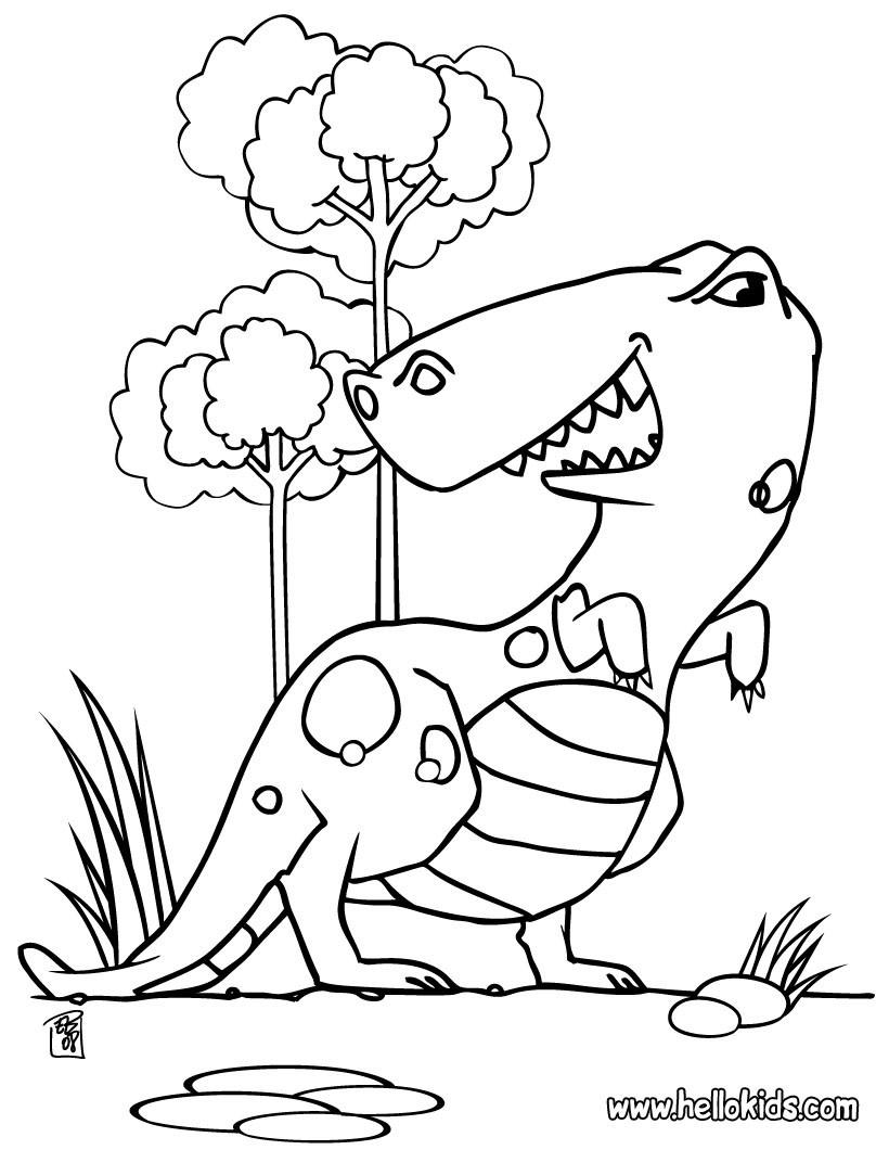 knabstrupper hengst dinosaur coloring pages | Desenhos para colorir de desenho de um enorme tiranossauro ...