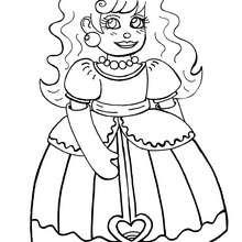 Desenho de uma Princesa de boneca para colorir