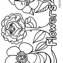 Desenho de uma linda flor para colorir