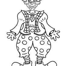 Desenho de um palhaço sorridente para colorir