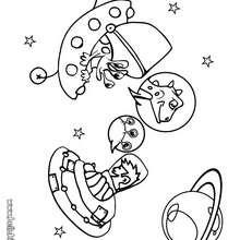 Desenho de uma galáxia para colorir