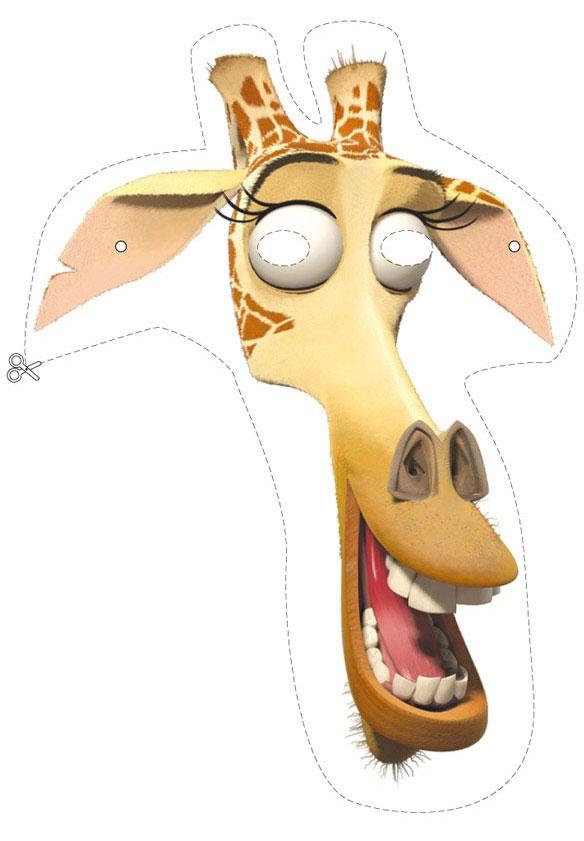 Madagascar 2: máscara da Melman, a girafa