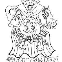 Desenho de um diabo-monstro para colorir