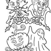 Desenho de um monstro do Dia das Bruxas para colorir