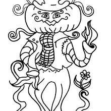 Desenho de um Homem-abóbora para colorir