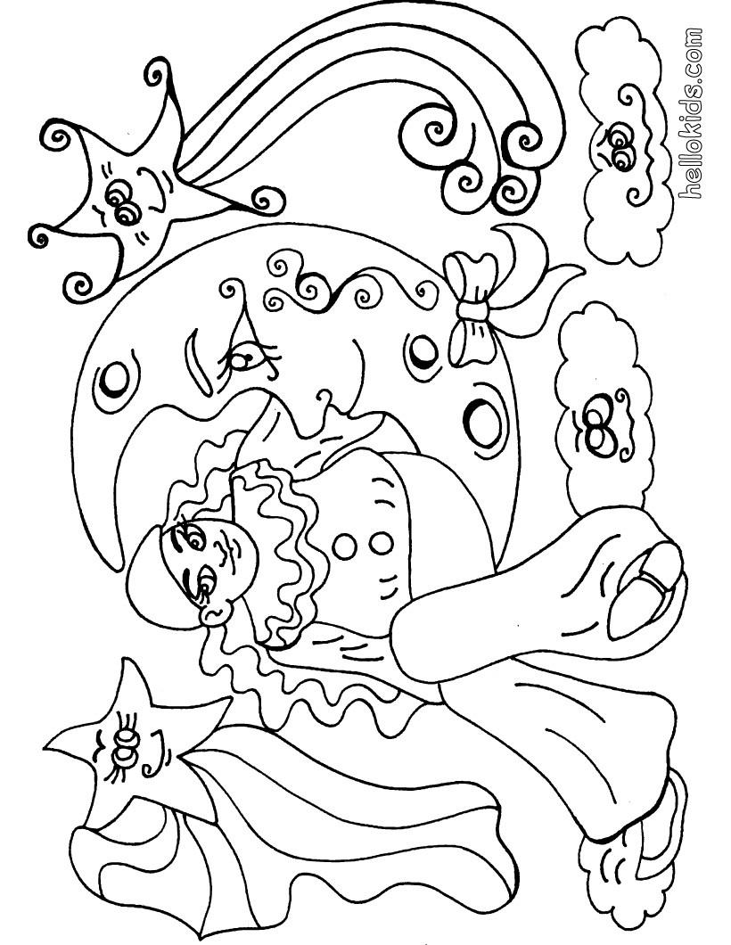 Desenho de um arlequim para colorir