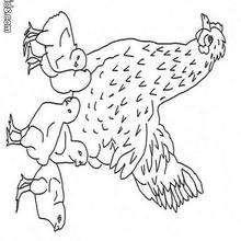 Desenho de uma Galinha com seus pintinhos para colorir