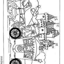 Desenho de um Cavalo com seu treinador para colorir