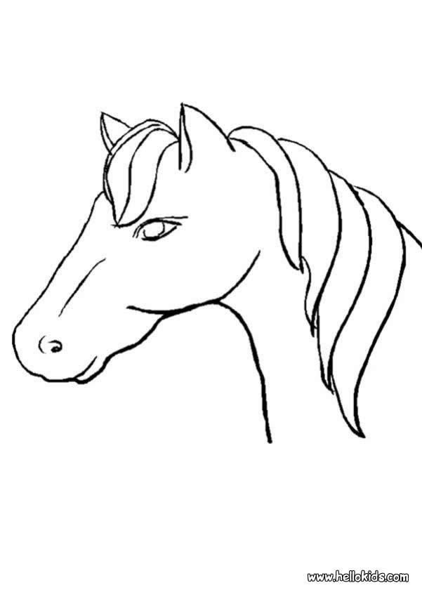 Cavalo para imprimir e colorir