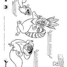 Madagascar 2 : Mork e Maurício, o lémur para colorir de graça