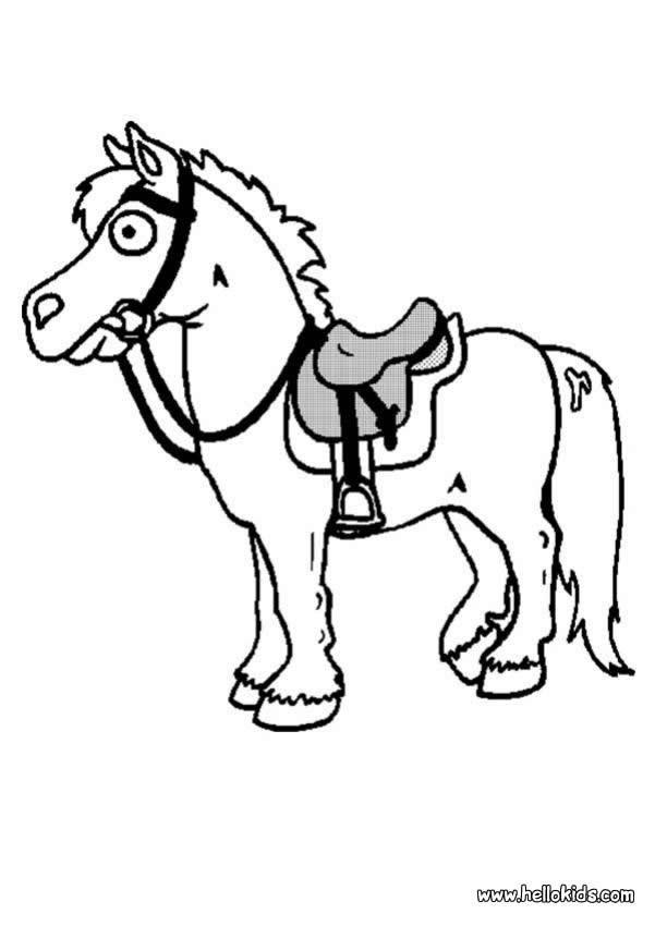 Desenhos para colorir de desenho de um pequeno cavalo para - Image cheval dessin ...