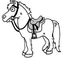 Desenho de um pequeno cavalo para colorir