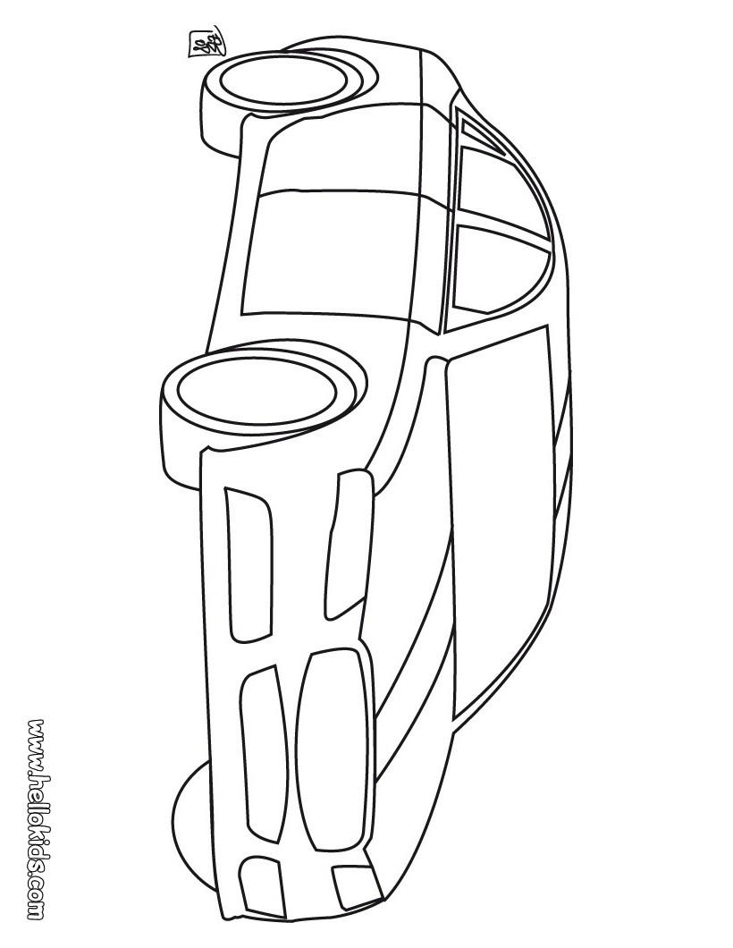 Desenho de Carro de corrida para Pintar e Colorir on-line