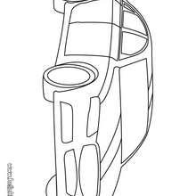 Desenho de um carro luxuoso para colorir