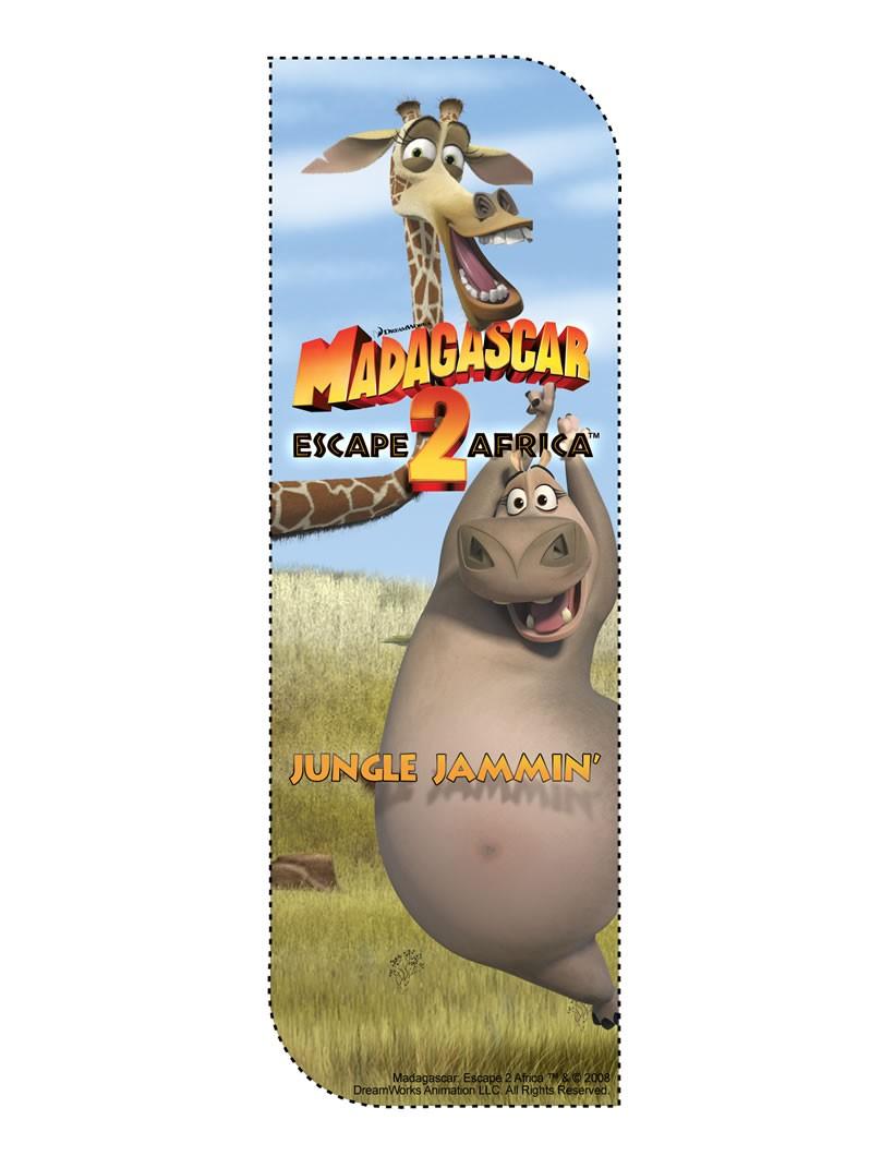 Marcador de página com a Glória de Madagascar