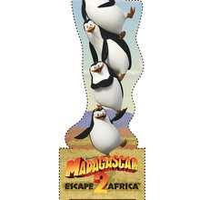 Marcador de página dos pinguins de Madagascar