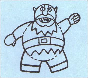 Como desenhar um Ogro