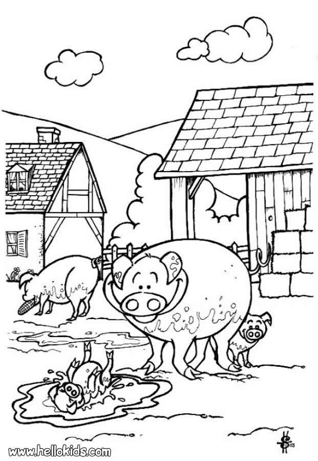 Desenhos De Animais Da Fazenda Para Colorir Desenhos Para