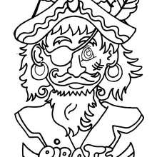 Desenho do pirata corajoso para colorir