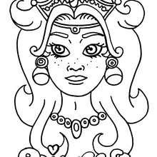Desenho de uma princesa para colorir