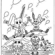 Desenho de um coelhinho para colorir