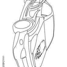 Desenho de um carro de corrida para colorir