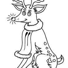 Desenho das renas felizes para colorir