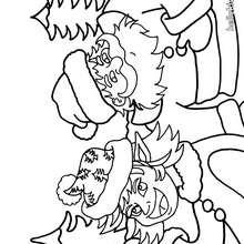 Desenho do Duende com o São Nicolau para colorir