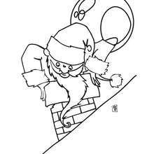 Desenho do Pai Noel para colorir