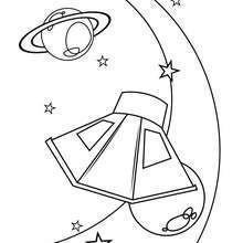 Desenho de planetas para colorir