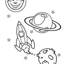 Desenho de uma nave espacial para colorir