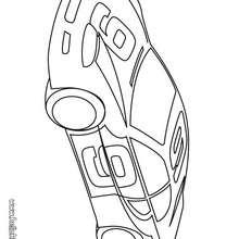 Desenho de um carro esportivo para colorir