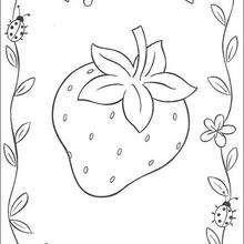 Desenho de um Morango para colorir