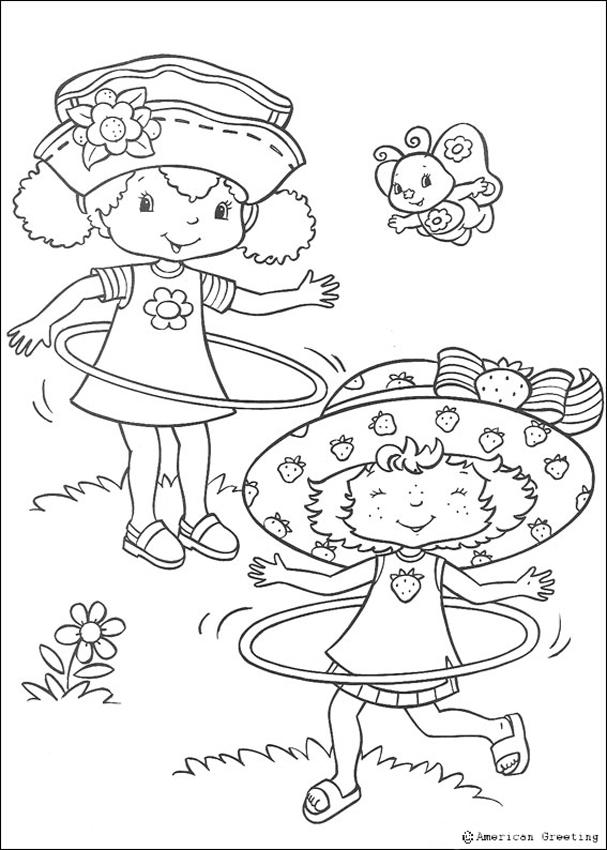 Desenho do Moranguinho com Laranjinha para colorir