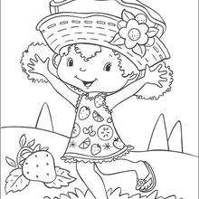 Desenho da Laranjinha feliz pala colorir