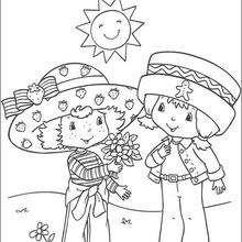 Desenho do Moranguinho com o Biscoitinho para colorir