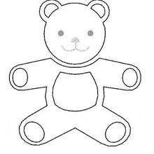 Desenho de um ursinho de pelúcia para colorir