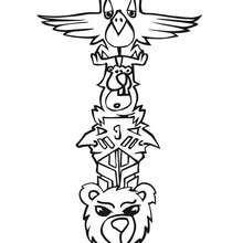 Desenho de um amuleto indígena para colorir
