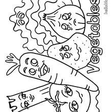 Desenho de um legume para colorir