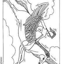 Desenho do Pesasus, o Cavalo veloz para colorir