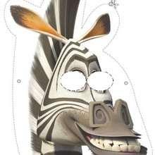 Madagascar 2: máscara da Marty,a  zebra