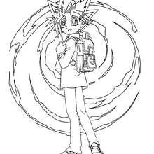Desenho do Yugi Muto pequeno para colorir
