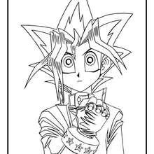 Desenho do personagem principal Yugi Muto para colorir