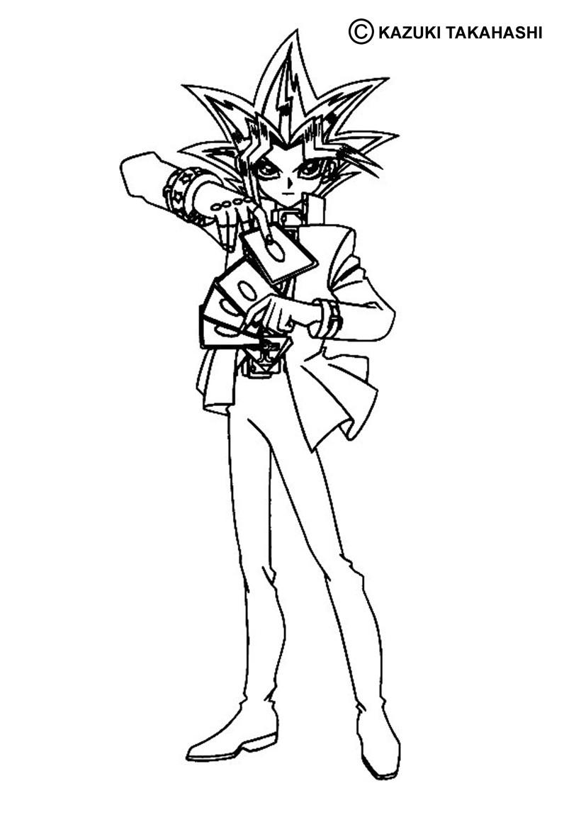 Desenhos para colorir de desenho do yugi jogando para colorir - Coloriage yu gi oh ...