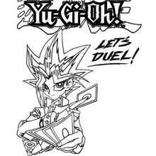 Desenho de um duelista para colorir