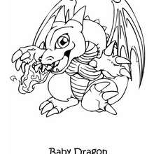 Desenho de um dragãozinho para colorir