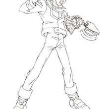 Desenho do menino Yugi Muto para colorir