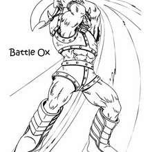 Desenho do o golpe do Ox para colorir