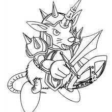 Desenho do castor guerreiro para colorir